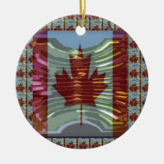 Adorno De Cerámica MapleLeaf: Representación de valores canadienses