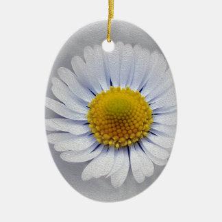 Adorno De Cerámica margarita blanca brillante
