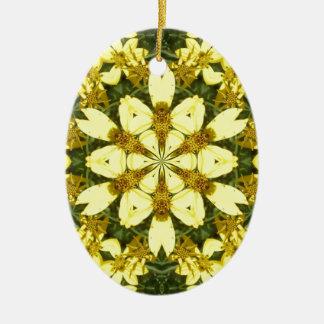 Adorno De Cerámica margaritas abstractas florales amarillas del
