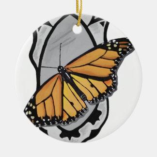 Adorno De Cerámica Mariposa del espejo
