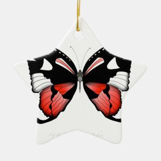 Adorno De Cerámica mariposa del rojo del higo 4 por los fernandes