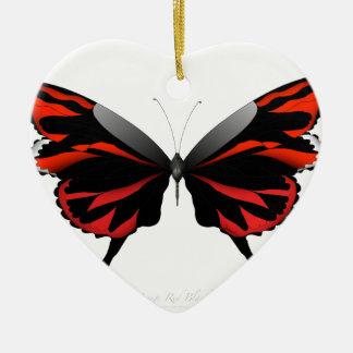 Adorno De Cerámica Mariposa roja 1 por los fernandes tony
