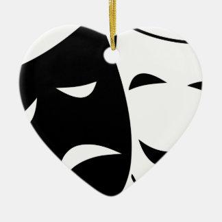 Adorno De Cerámica Máscara de la comedia y de la tragedia
