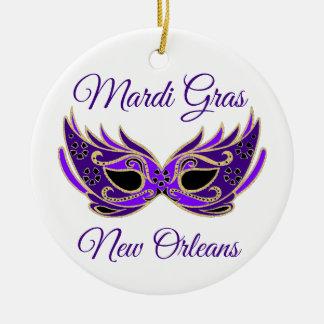 Adorno De Cerámica Máscara de New Orleans del carnaval