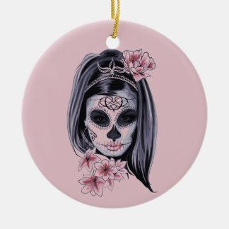 Adorno De Cerámica Máscara del esqueleto de la mujer