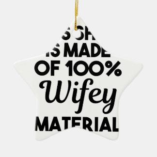 Adorno De Cerámica Material de Wifey