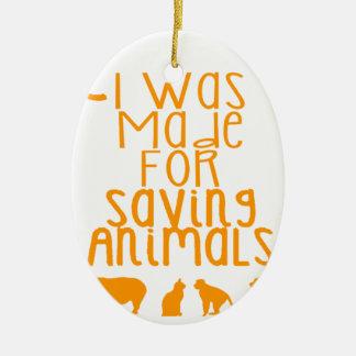 Adorno De Cerámica Me hicieron para los animales de ahorro