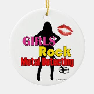 Adorno De Cerámica Metal de la roca de los chicas que detecta el