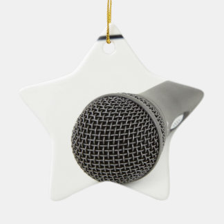 Adorno De Cerámica Micrófono - charla a mí