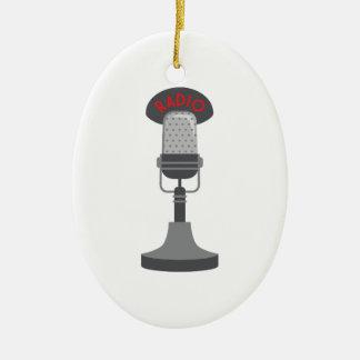 Adorno De Cerámica Micrófono de radio
