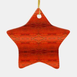 Adorno De Cerámica Modelo azteca anaranjado