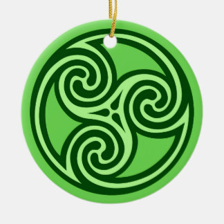 Adorno De Cerámica Modelo, cal y verde oscuro de Triskele del Celtic