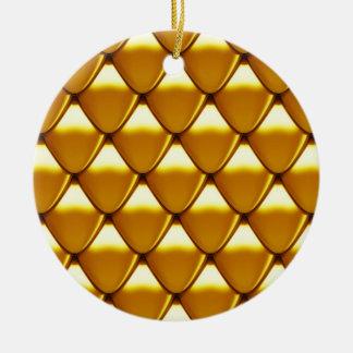 Adorno De Cerámica Modelo elegante de la escala del oro