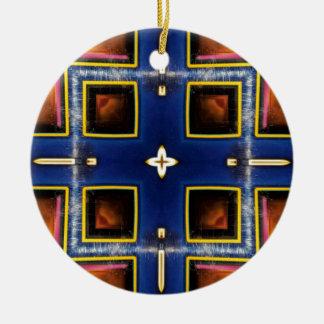 Adorno De Cerámica Modelo geométrico azul masculino de la cadera