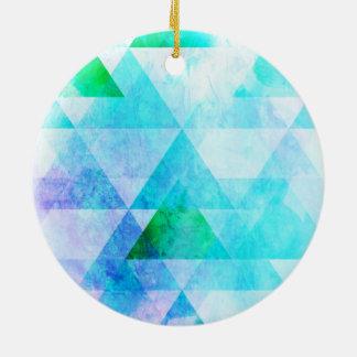 Adorno De Cerámica Modelo geométrico de la acuarela azul