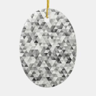 Adorno De Cerámica Modelo gris del triángulo