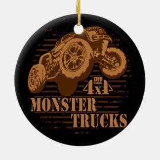 Adorno De Cerámica Monster truck 4x4 del camino