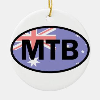 Adorno De Cerámica Montaña Biking la bandera de Australia