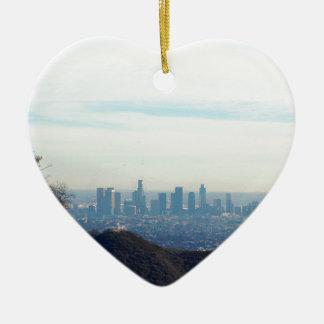 Adorno De Cerámica Montaña enmarcada LA