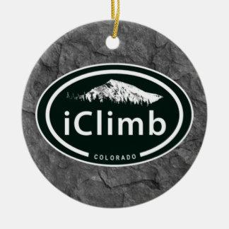 Adorno De Cerámica Montaña personalizada de Colorado del iClimb que