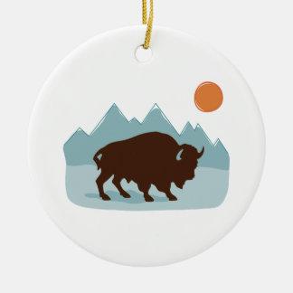 Adorno De Cerámica Montañas del búfalo