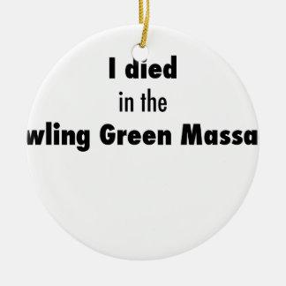 Adorno De Cerámica Morí en la masacre de Bowling Green