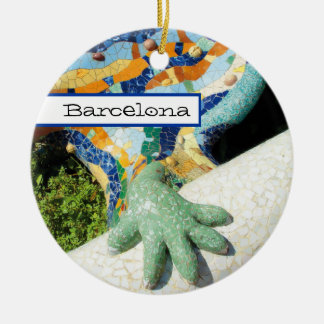 Adorno De Cerámica Mosaicos de la mano del lagarto de Barcelona