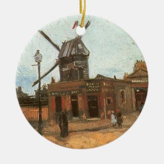 Adorno De Cerámica Moulin de la Galette de Vincent van Gogh, molino