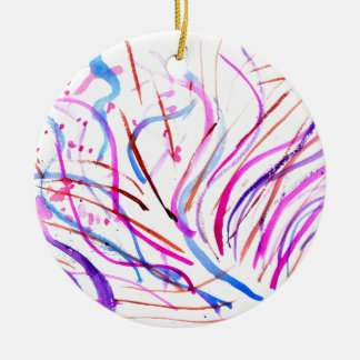 Adorno De Cerámica Movimientos coloridos 4 de la pintura
