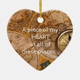 Adorno De Cerámica Muchos lugares… todos tienen mi corazón