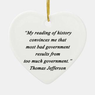 Adorno De Cerámica Mún gobierno - Thomas Jefferson