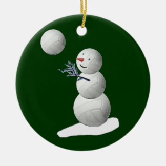 Adorno De Cerámica Muñeco de nieve del voleibol