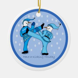 Adorno De Cerámica Muñecos de nieve de los artes marciales para el