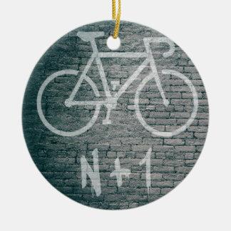 Adorno De Cerámica N+1 pintada de la bici