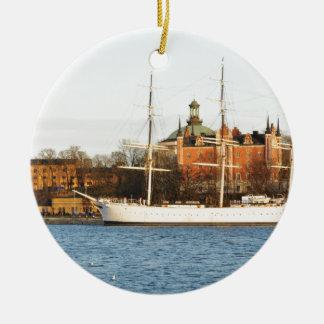 Adorno De Cerámica Navegando en Estocolmo, Suecia