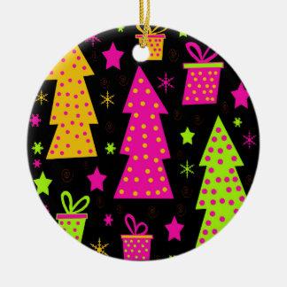 Adorno De Cerámica Navidad colorida, juguetona