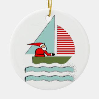 Adorno De Cerámica Navidad de la navegación