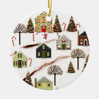 Adorno De Cerámica Navidad de LaCrosse cobrable