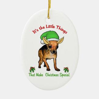 Adorno De Cerámica Navidad de los amantes de la chihuahua