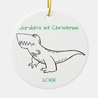 Adorno De Cerámica Navidad de T-Rex