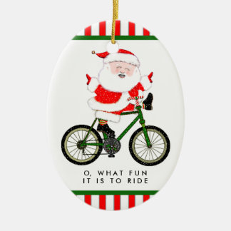 Adorno De Cerámica Navidad del ciclista cobrable