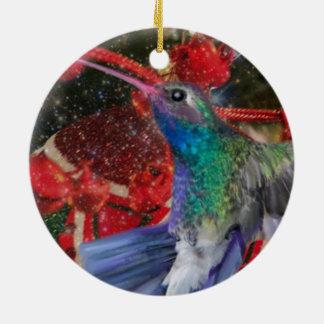 Adorno De Cerámica Navidad del colibrí