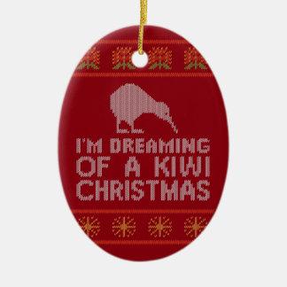 Adorno De Cerámica Navidad del kiwi