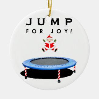 Adorno De Cerámica Navidad del trampolín