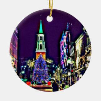 Adorno De Cerámica Navidad en ciudad