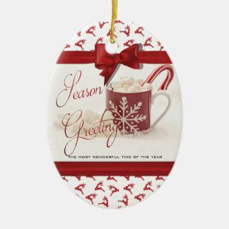 Adorno De Cerámica Navidad Holidys, la mejor época del año