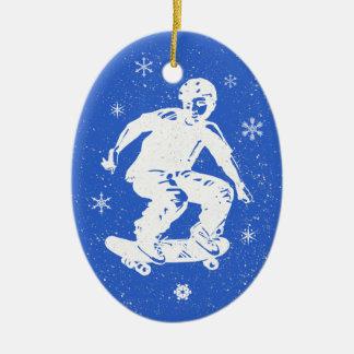 Adorno De Cerámica Navidad impresionante del copo de nieve del