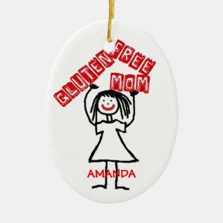 Adorno De Cerámica Navidad libre de la mamá del gluten