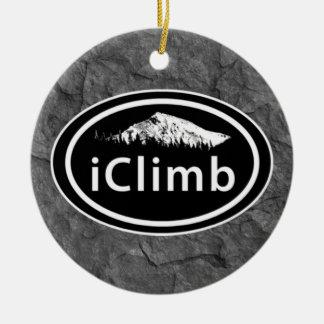 Adorno De Cerámica Navidad personalizado de la montaña del iClimb que