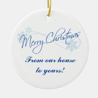 Adorno De Cerámica Navidad personalizado de nuestra casa el suyo